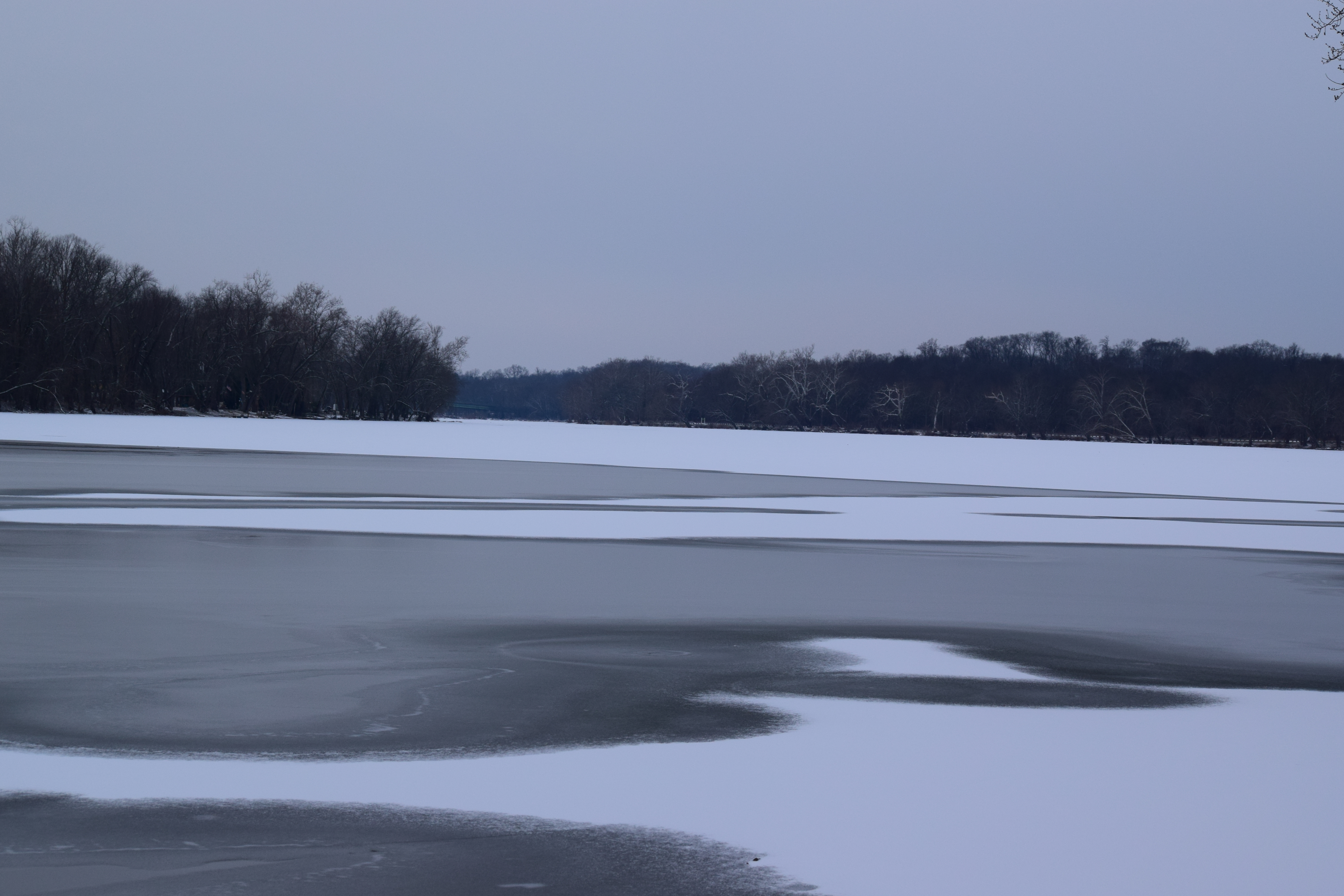 Shenandoah River at Sunrise on a Snowy Day