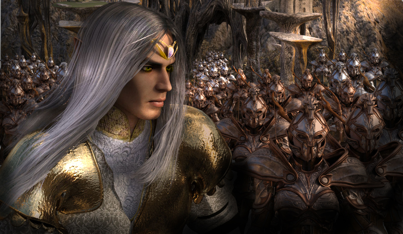The elf king goes to war