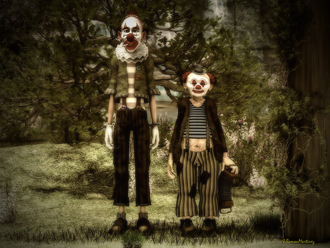 Two Clowns In The Forest