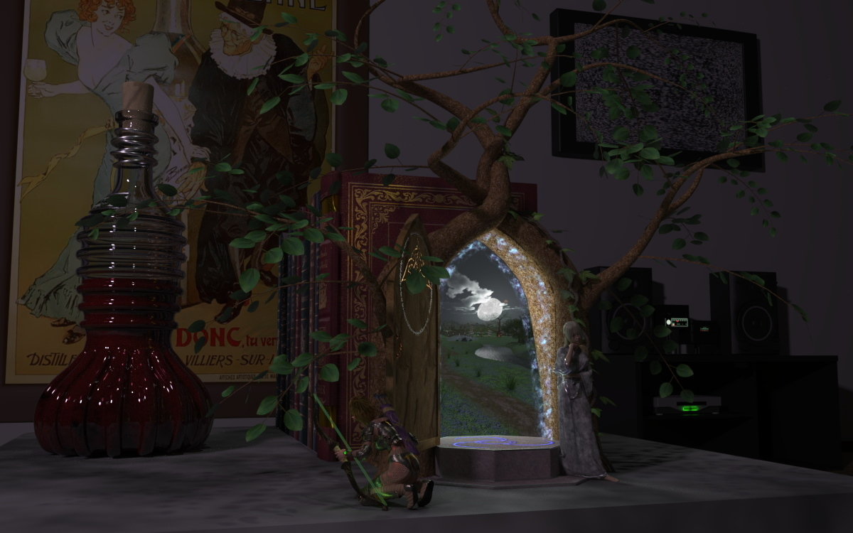 Faerie door by seachnasaigh poser faeries for The faerie door