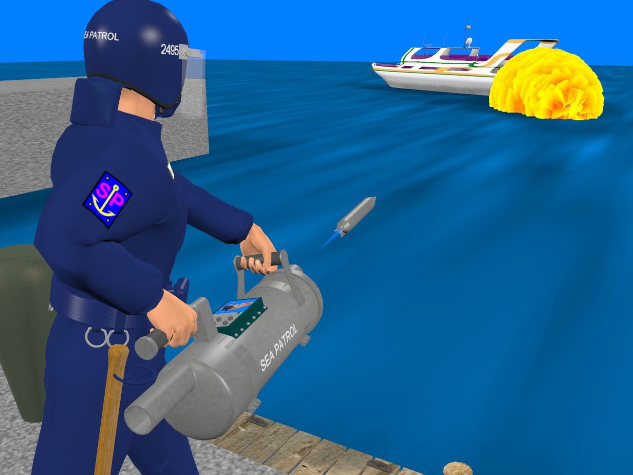 Sea Patrol - new weapon proved by Anthony Appleyard