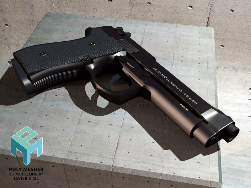 Beretta 9M by PolyMesher