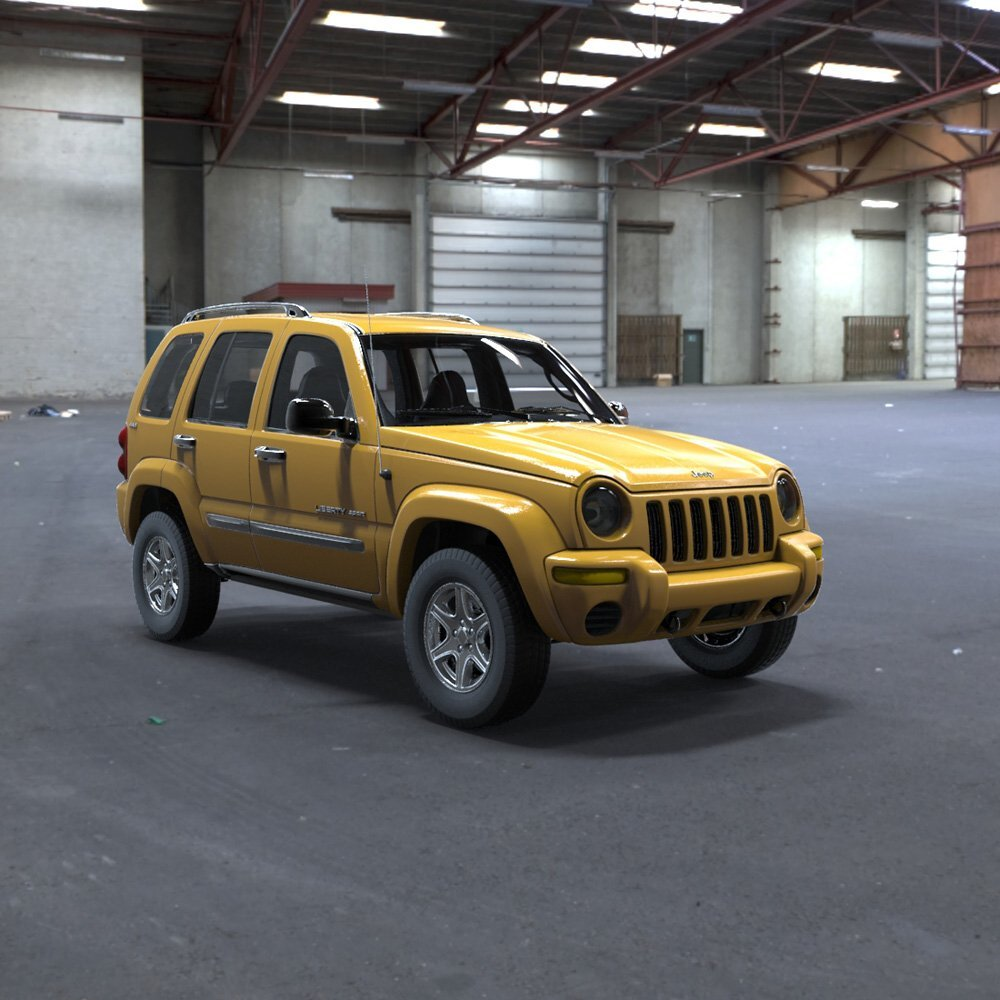 Jeep Liberty in a Garage