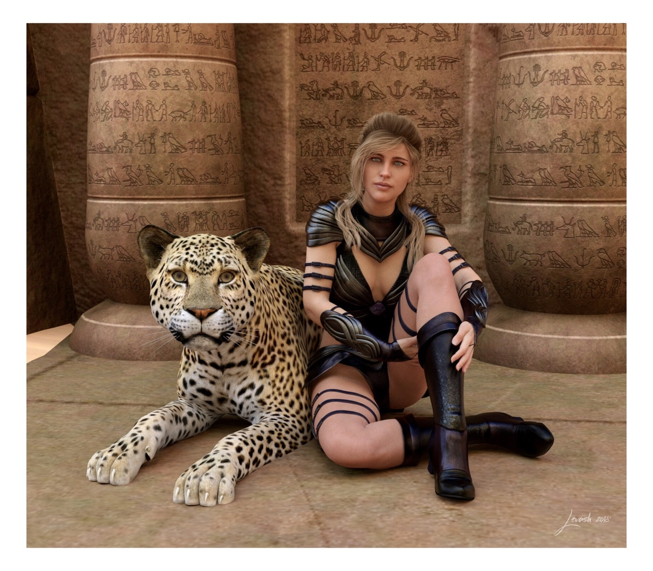 Egyptian Leopard Warrior