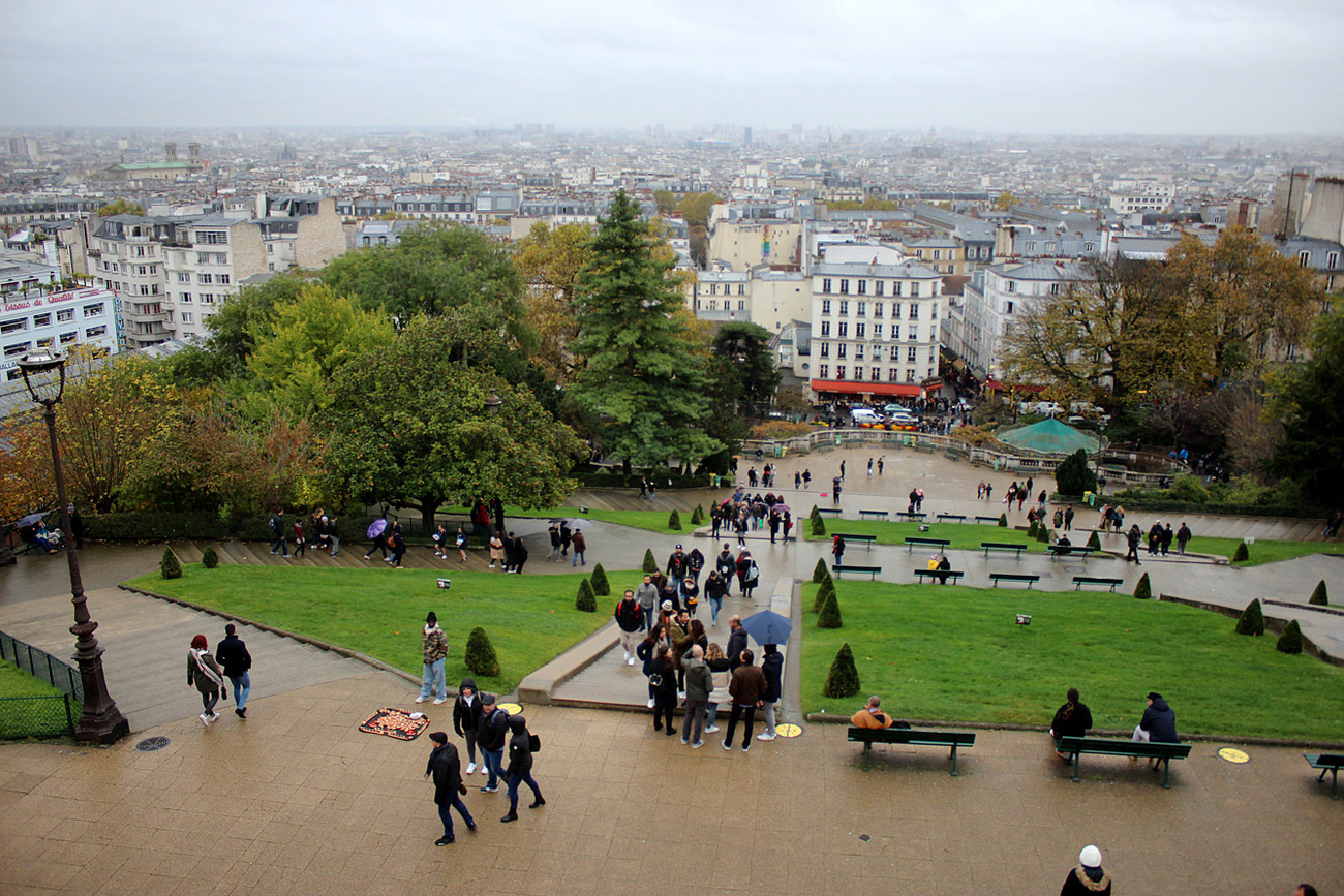 The view from Sacré-Cœur.