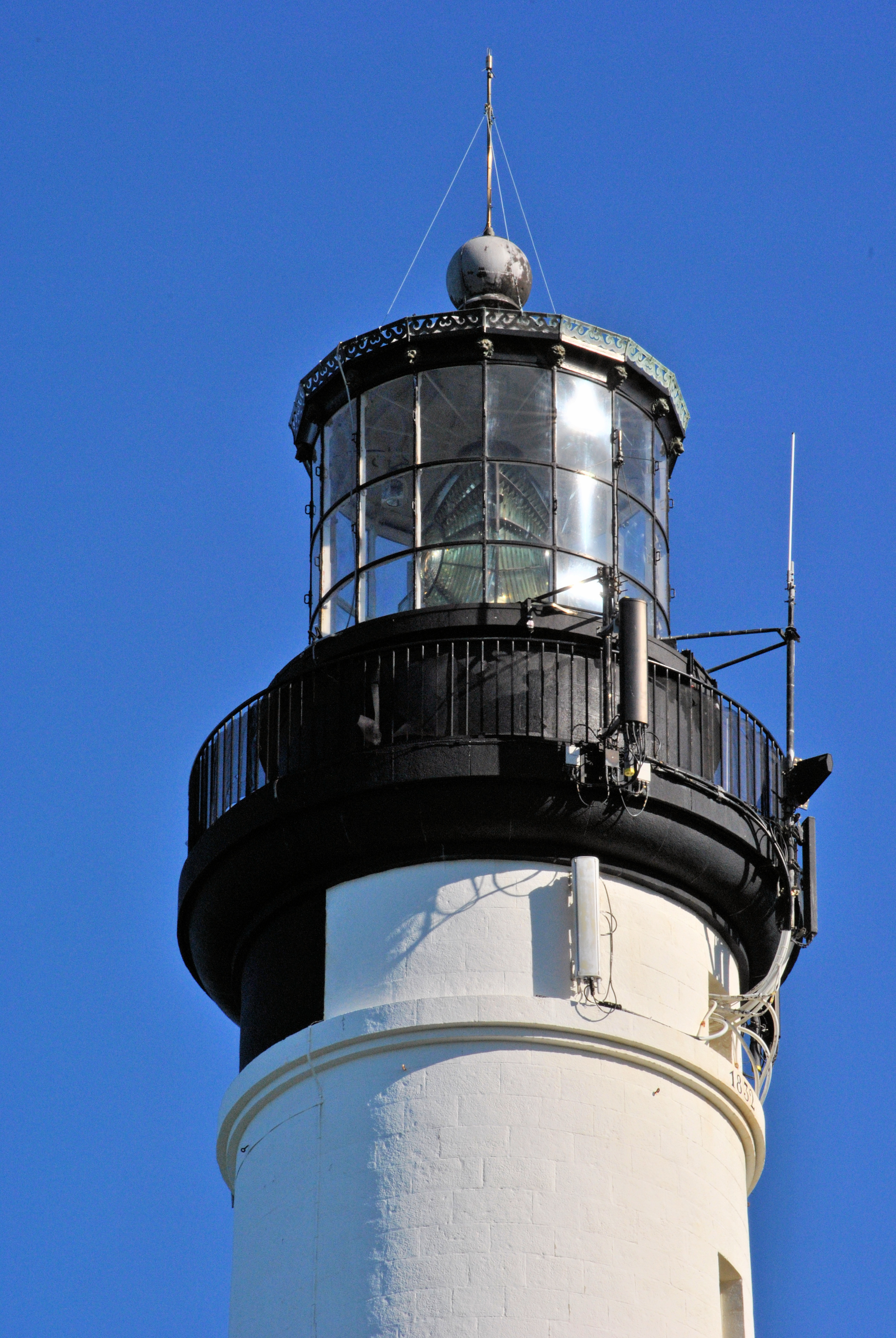 Lantern of the lighthouse of Biarritz