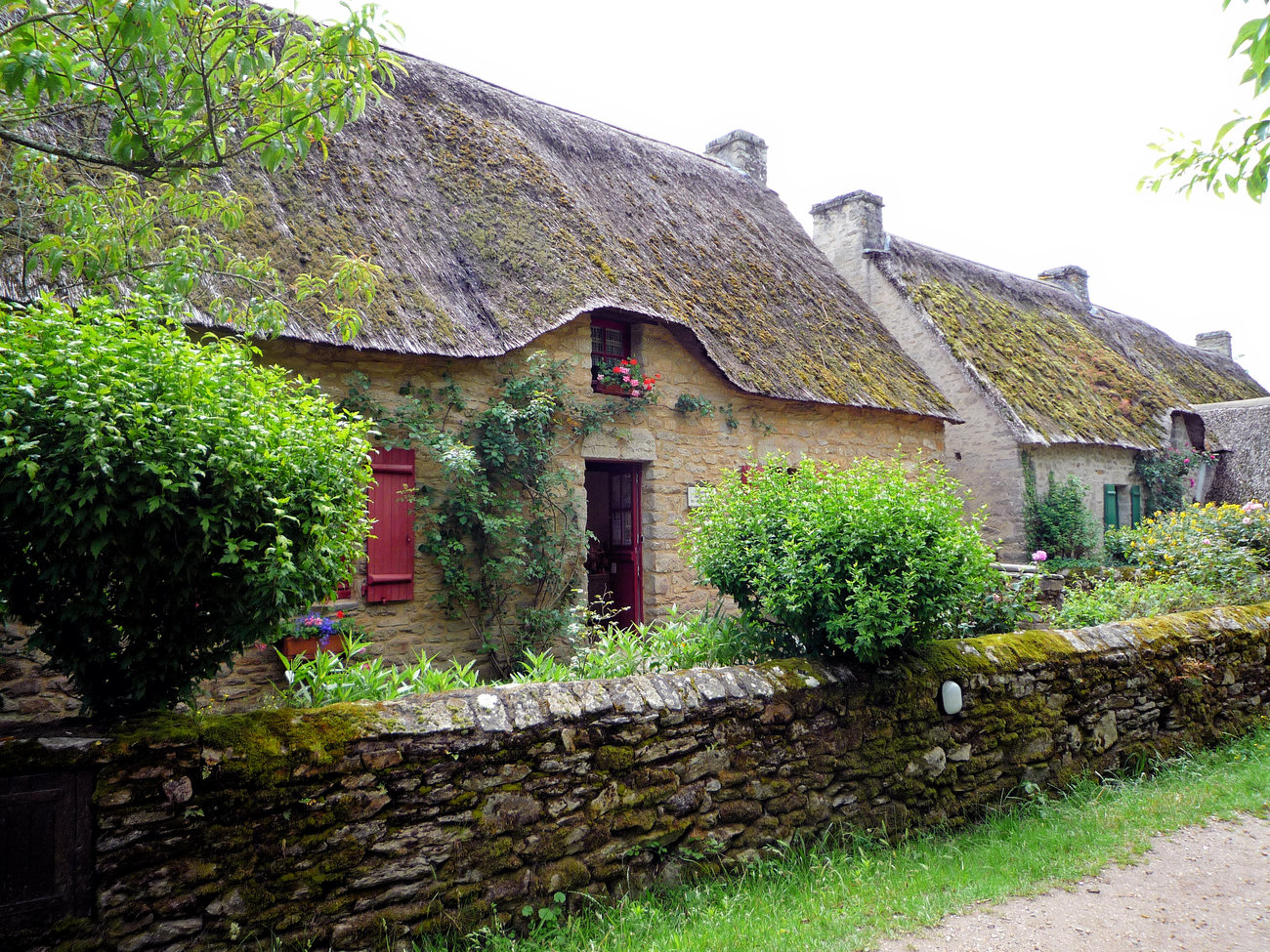 Breton house with thatched roof