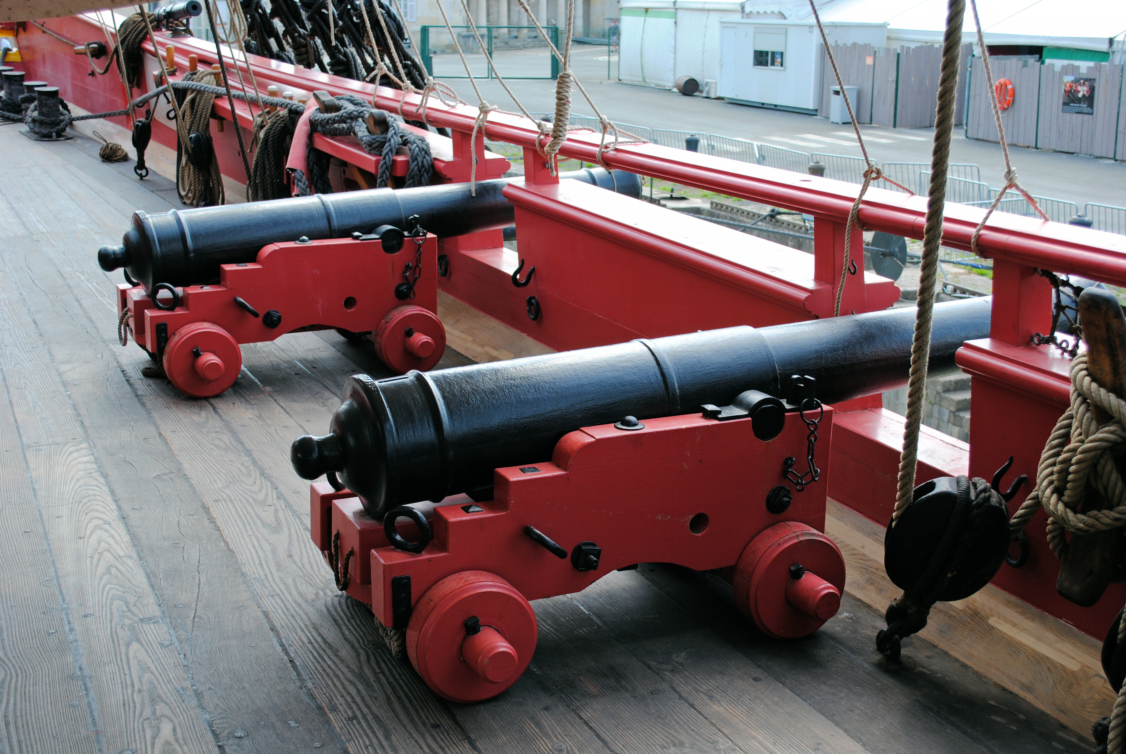 The Hermione's cannons