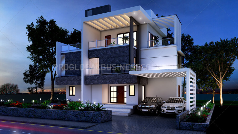3D Architectural Exterior Rendering Services