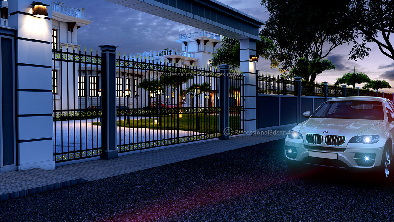 3D Architectural Exterior Rendering