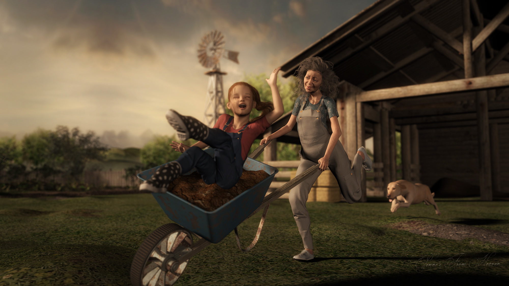 Gardening With Granny by dollmommy Prime Members Gallery Humor