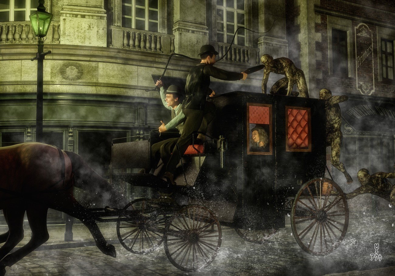 The Zombies of Old London (Update) by moebiustraveller