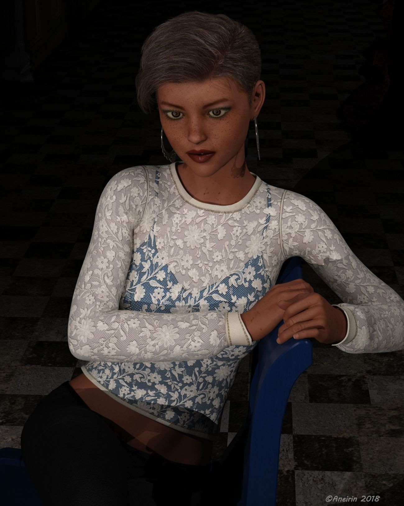 Young Girl sitting on a Chair