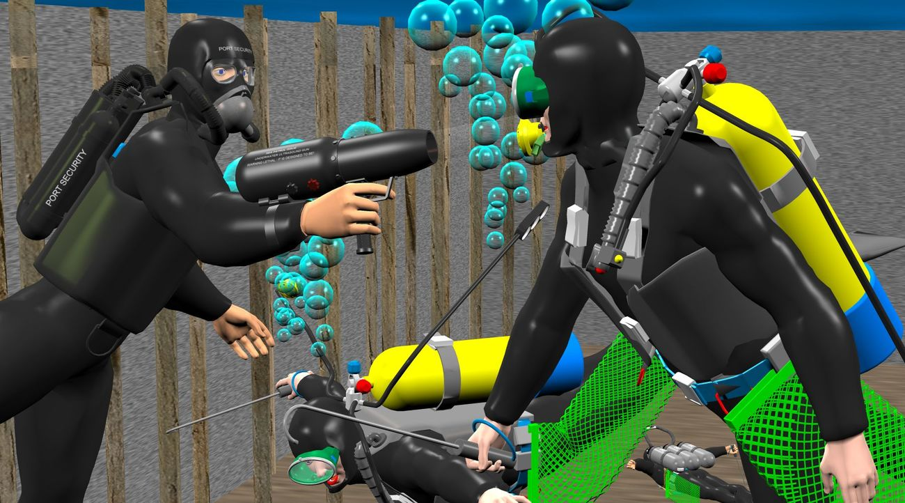 The afterlife for seized sport-diving stab-jackets
