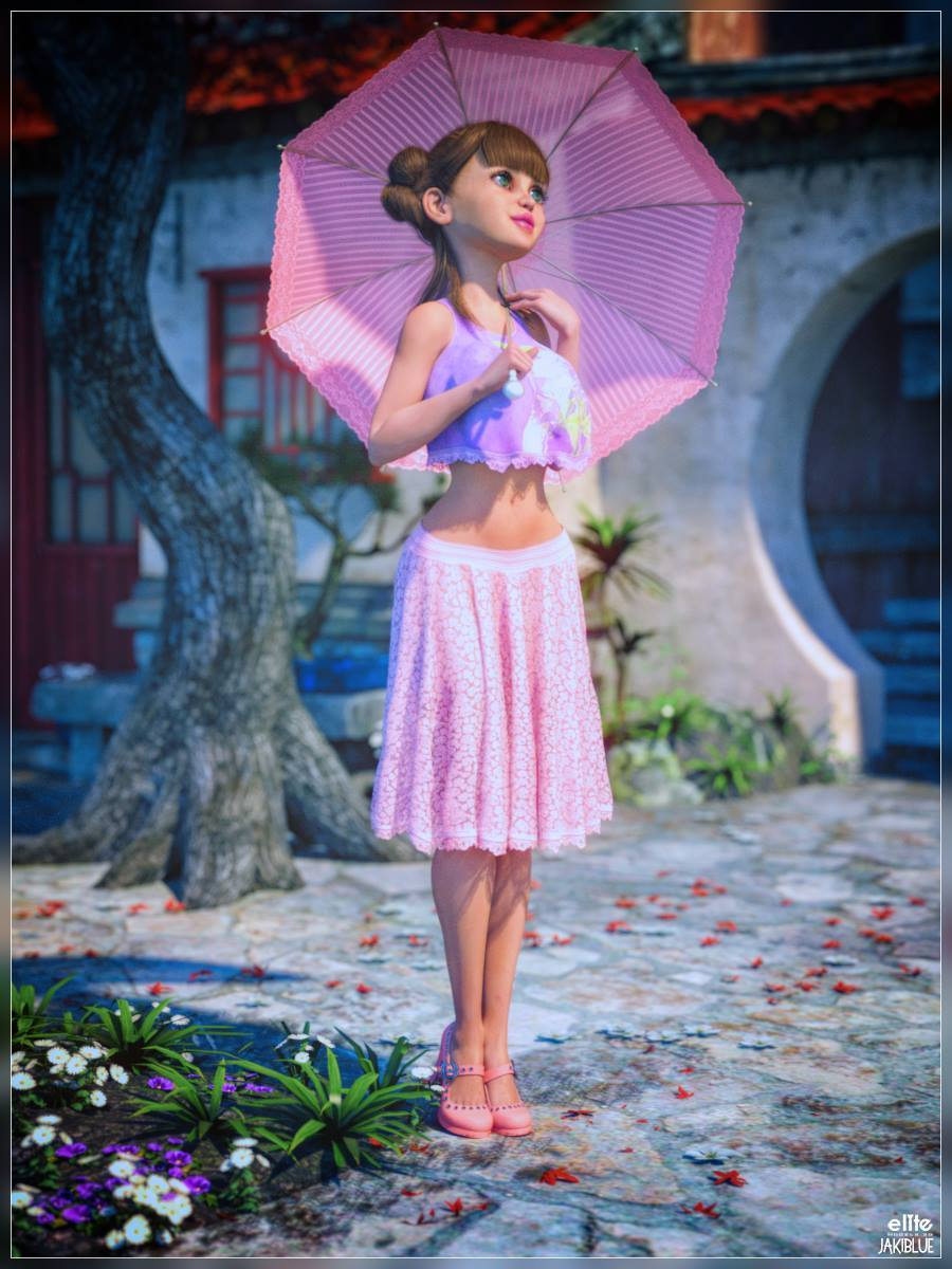 GB Summer Spirit Outfit for Godin and Biscuits by EliteModels3D