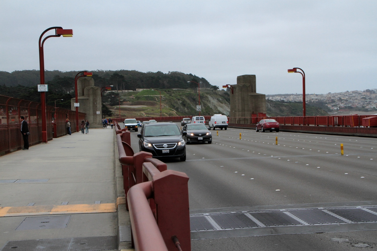 on the Golden gate