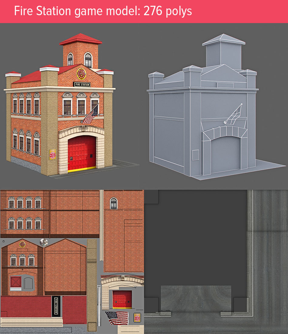Fire station game model!