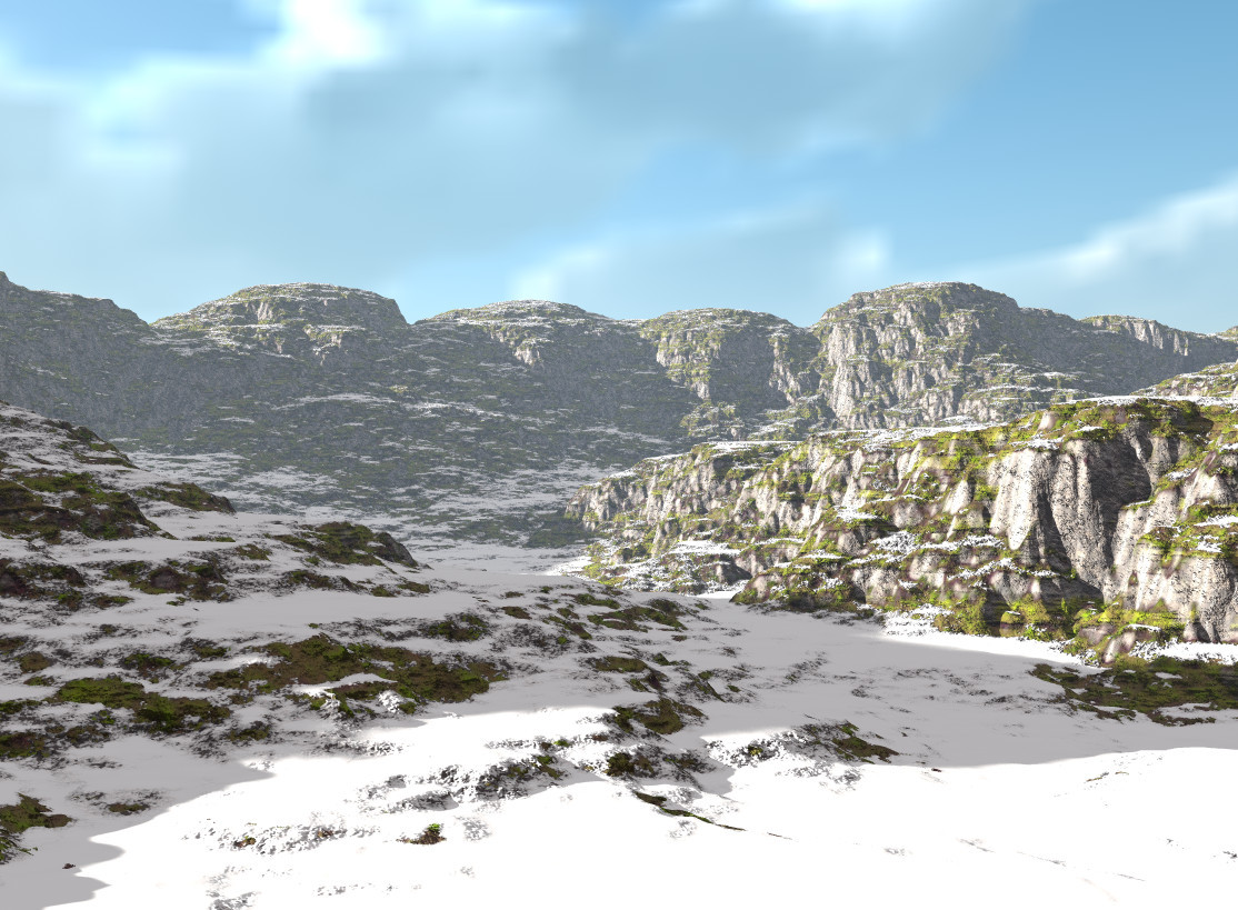 World Machine & Bryce Terrain Experiment 1A by Eugenius