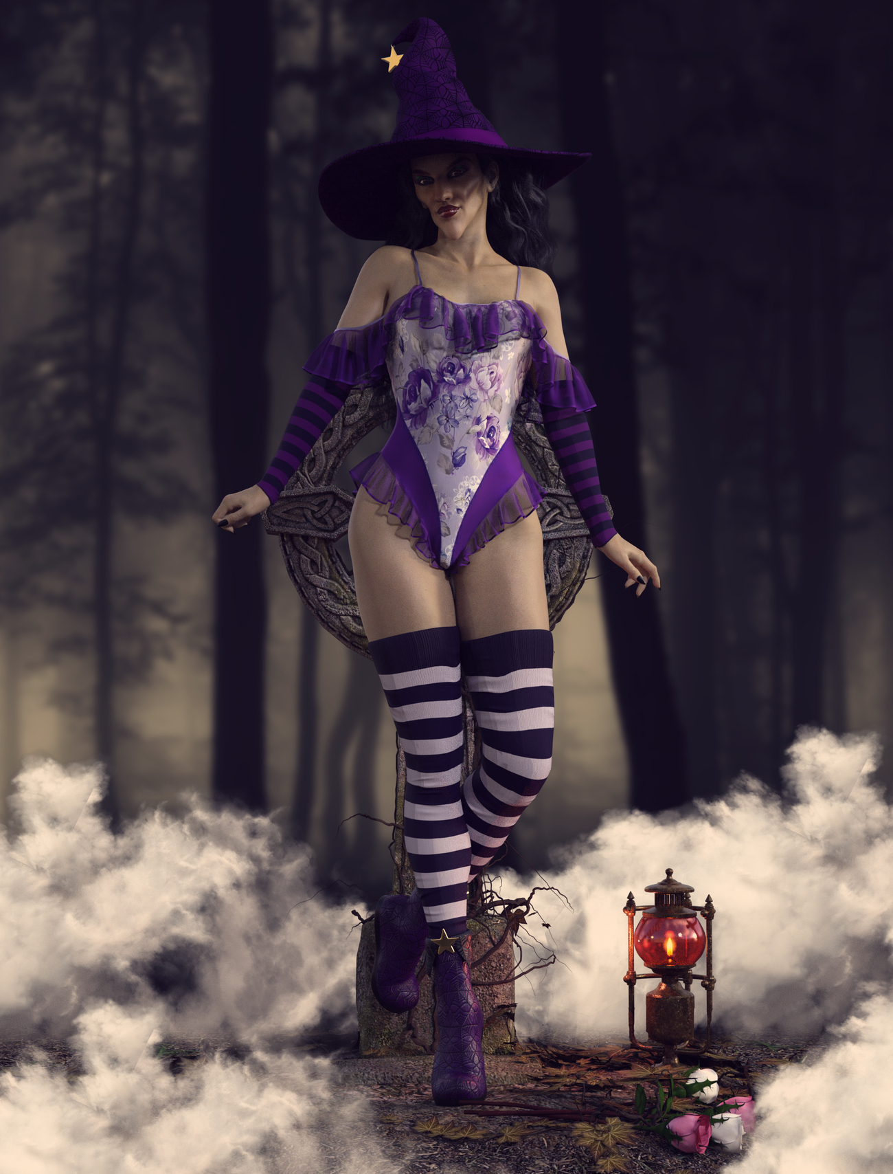 Spooky Frills Swimsuit G8F by Alexaana by crender