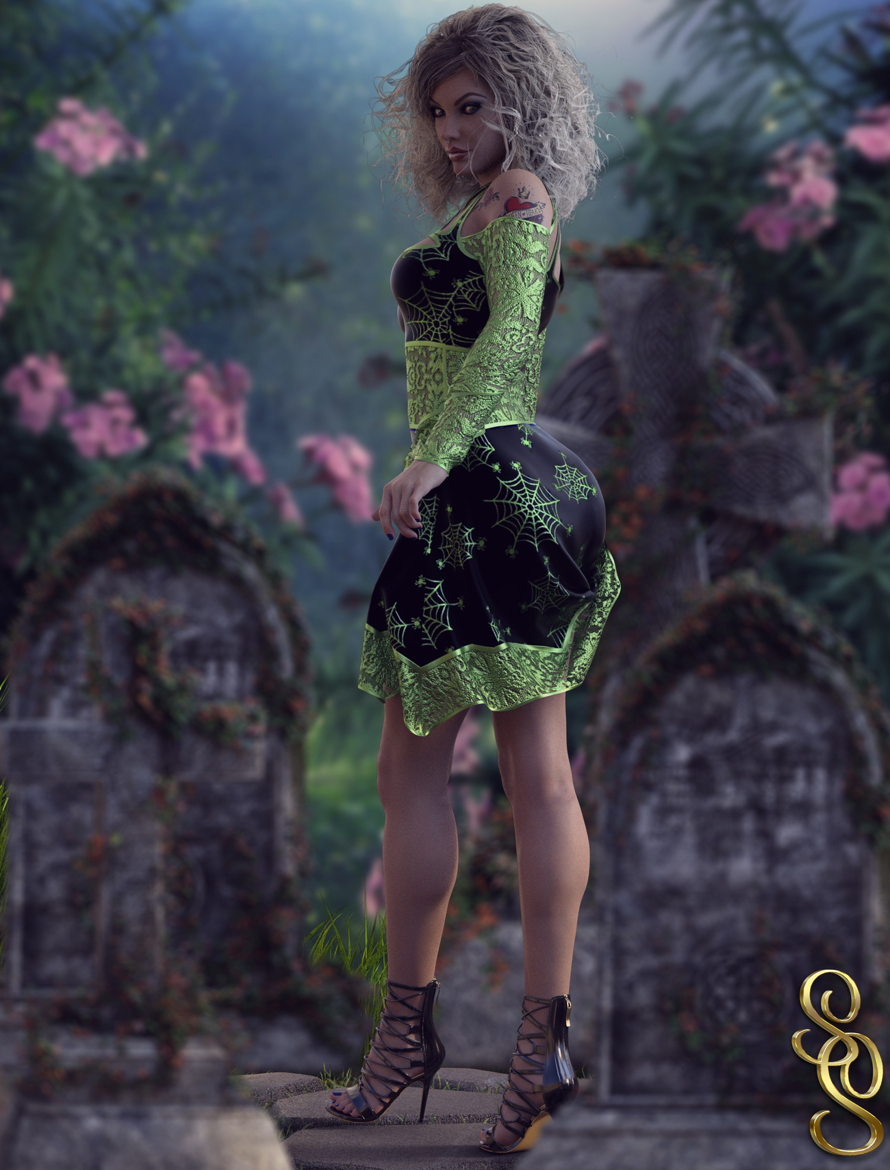 VERSUS - Nocturne dForce dress for G8F by Anagord by crender