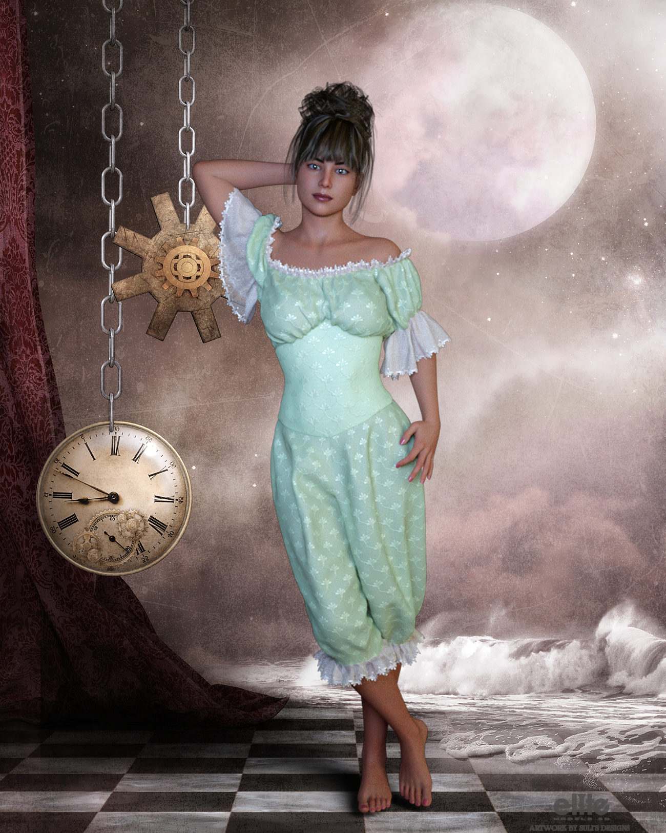 Victorian Mistress for Lully by SulisDesigns by EliteModels3D