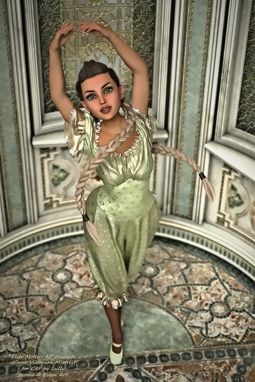 Victorian Mistress for Lully by EsbeeArt by EliteModels3D