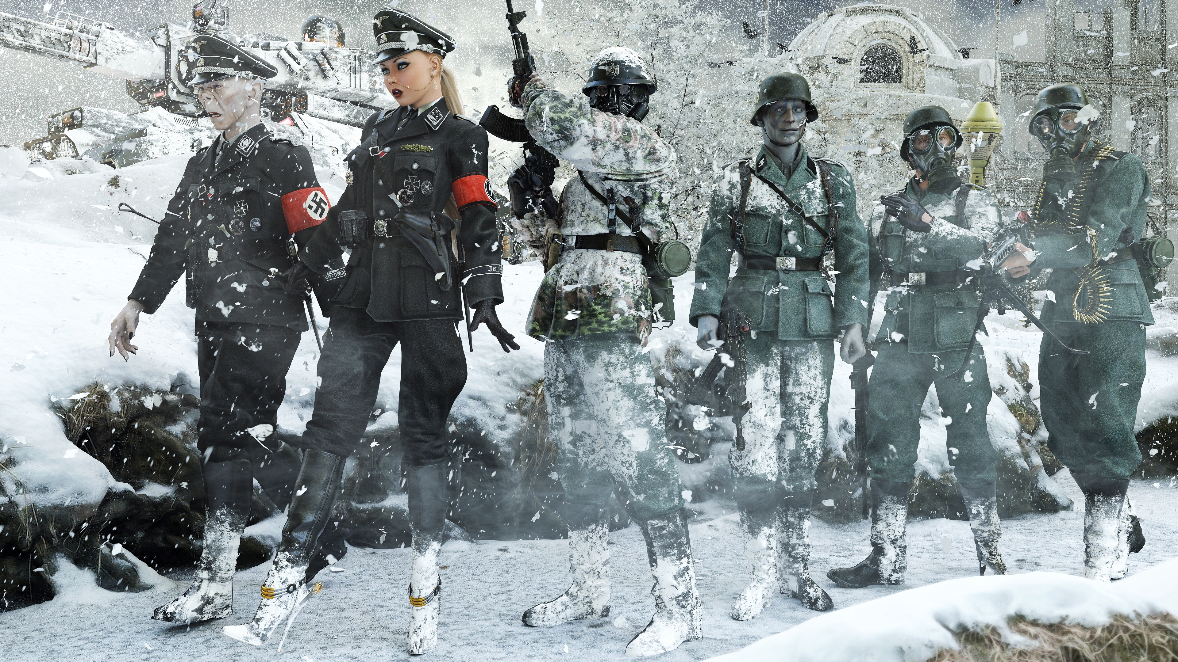 Nazi zombies in the blizzard