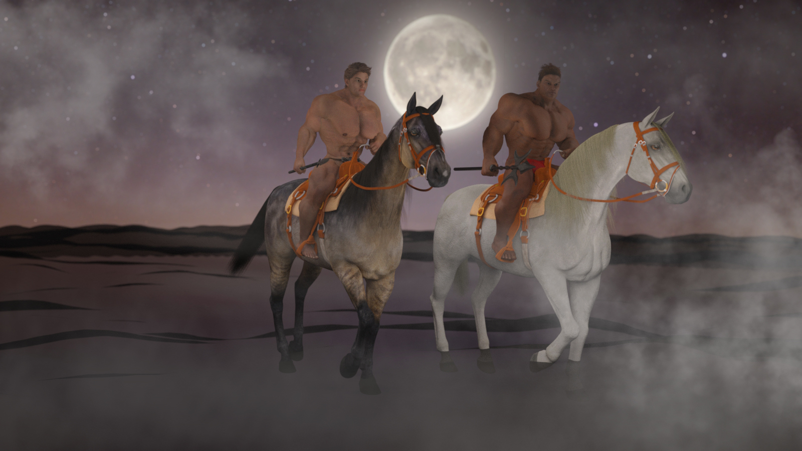 Riders in the moonlight