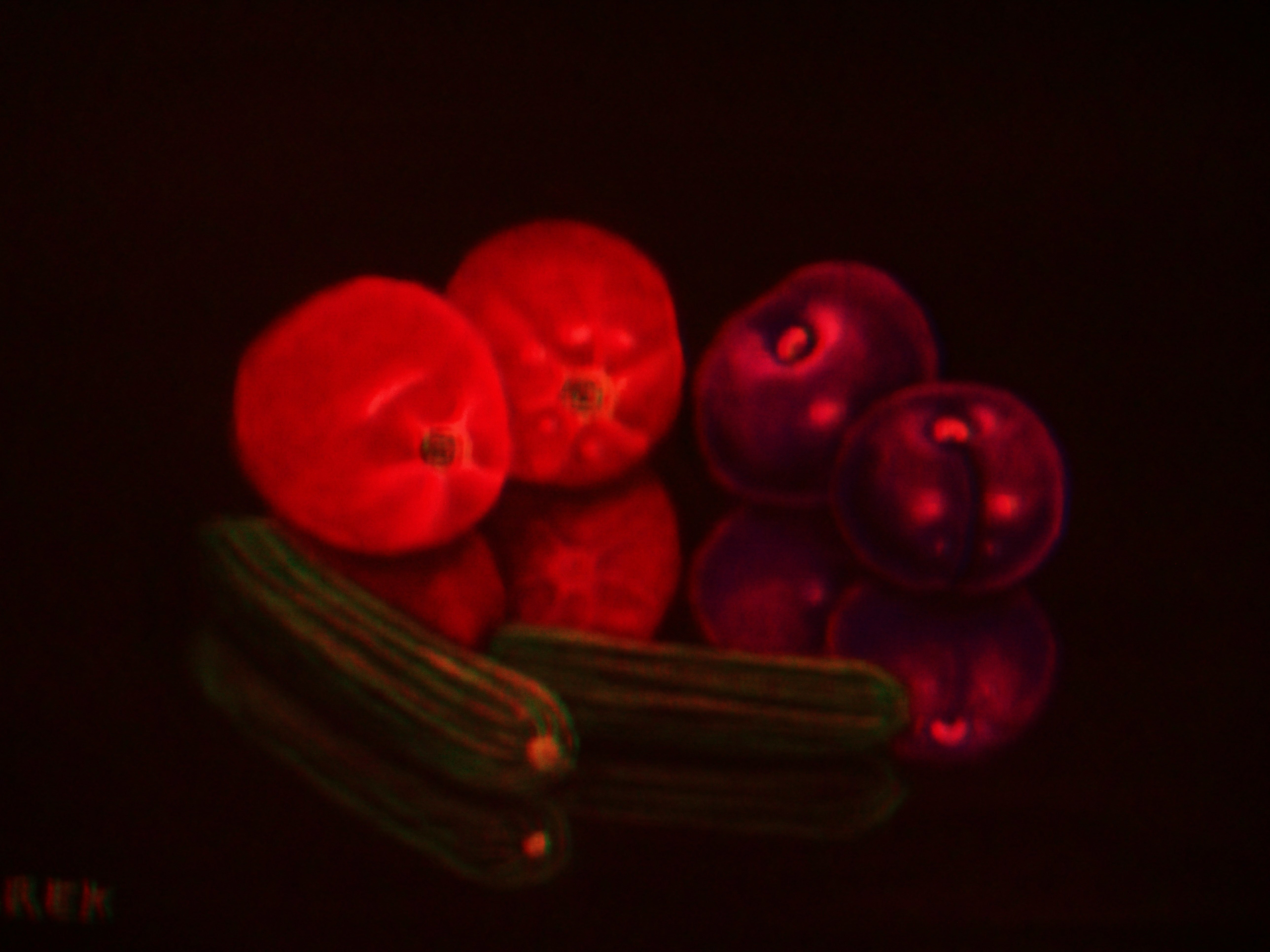 Cucumbers , Tomatoes and Prunes (10)(10)(3)