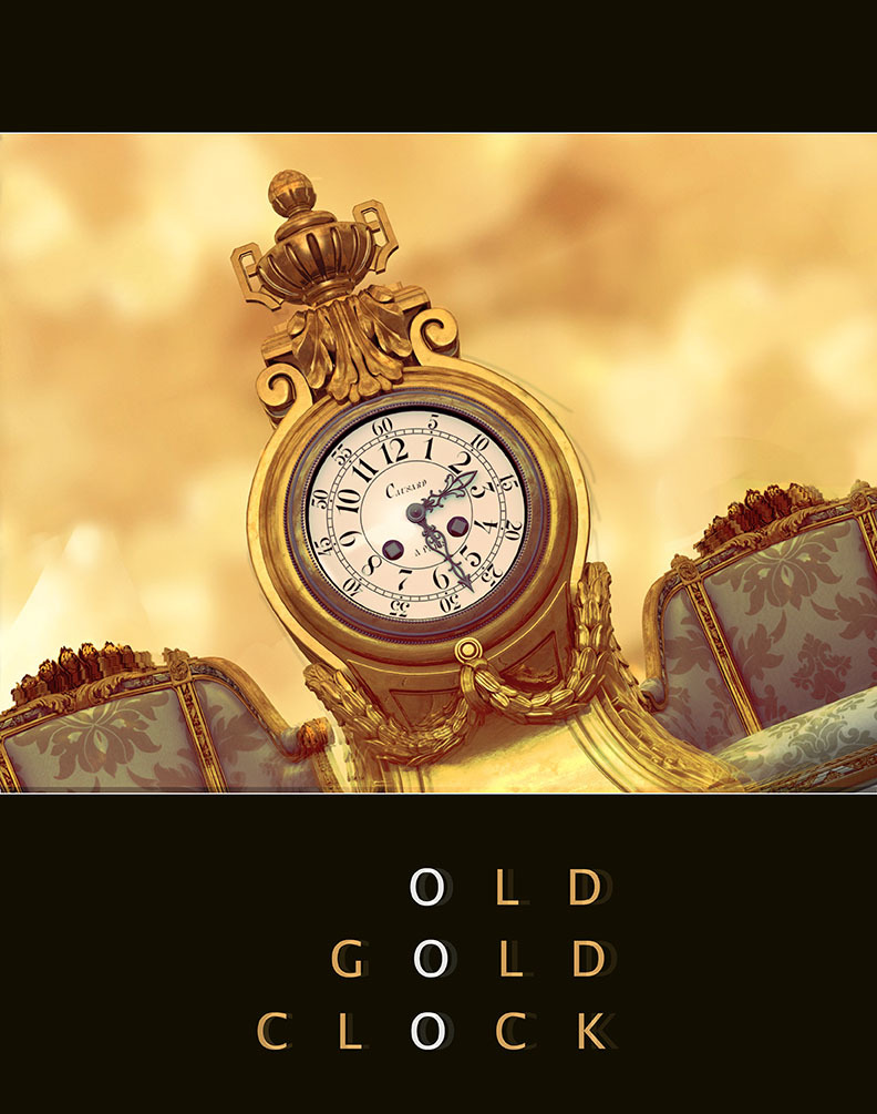 Old Gold Clock