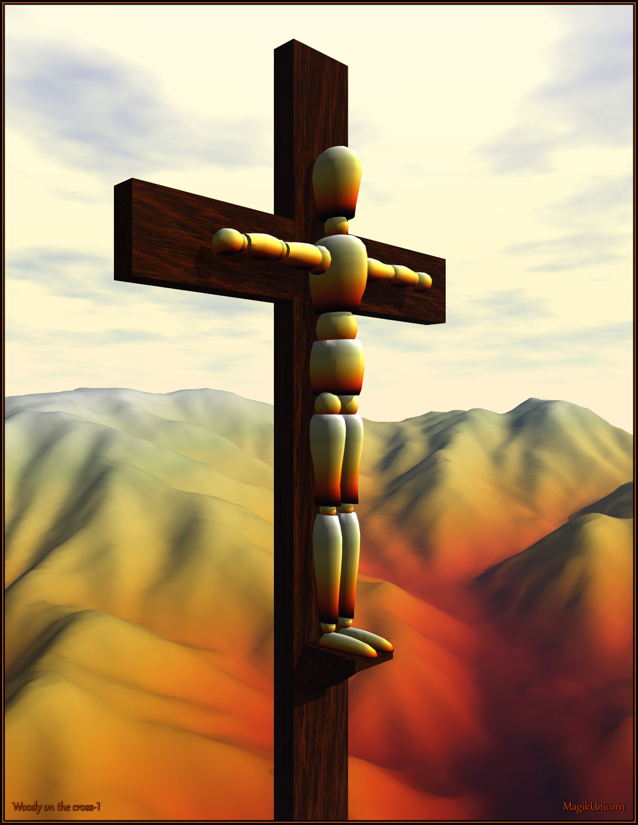 Woody on the cross-1