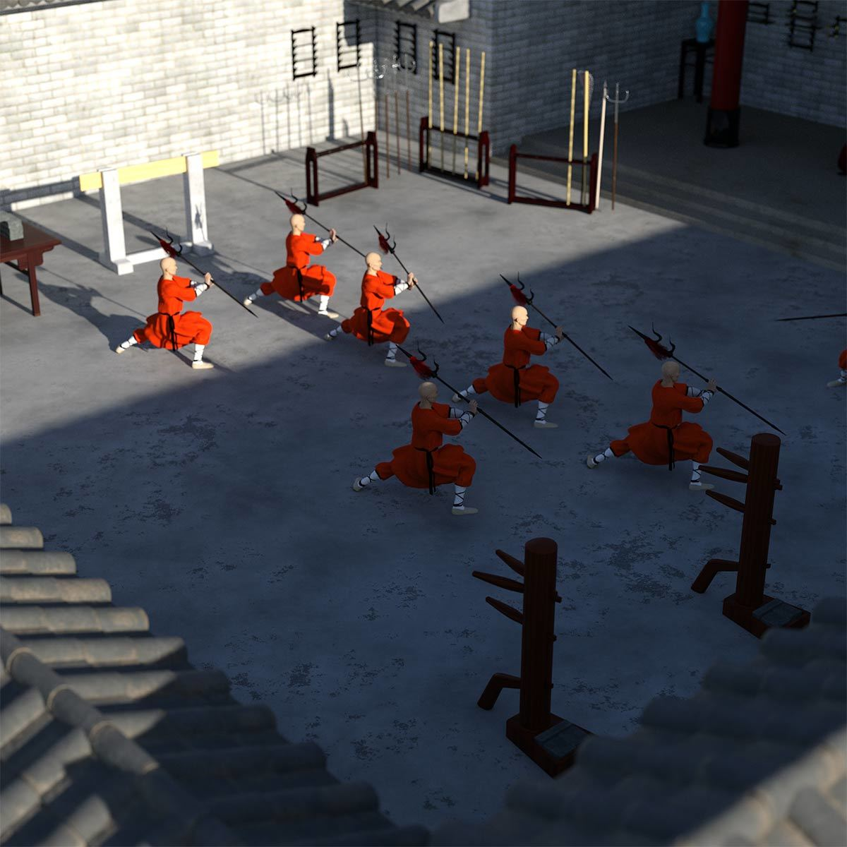 Monks Train at Wudang