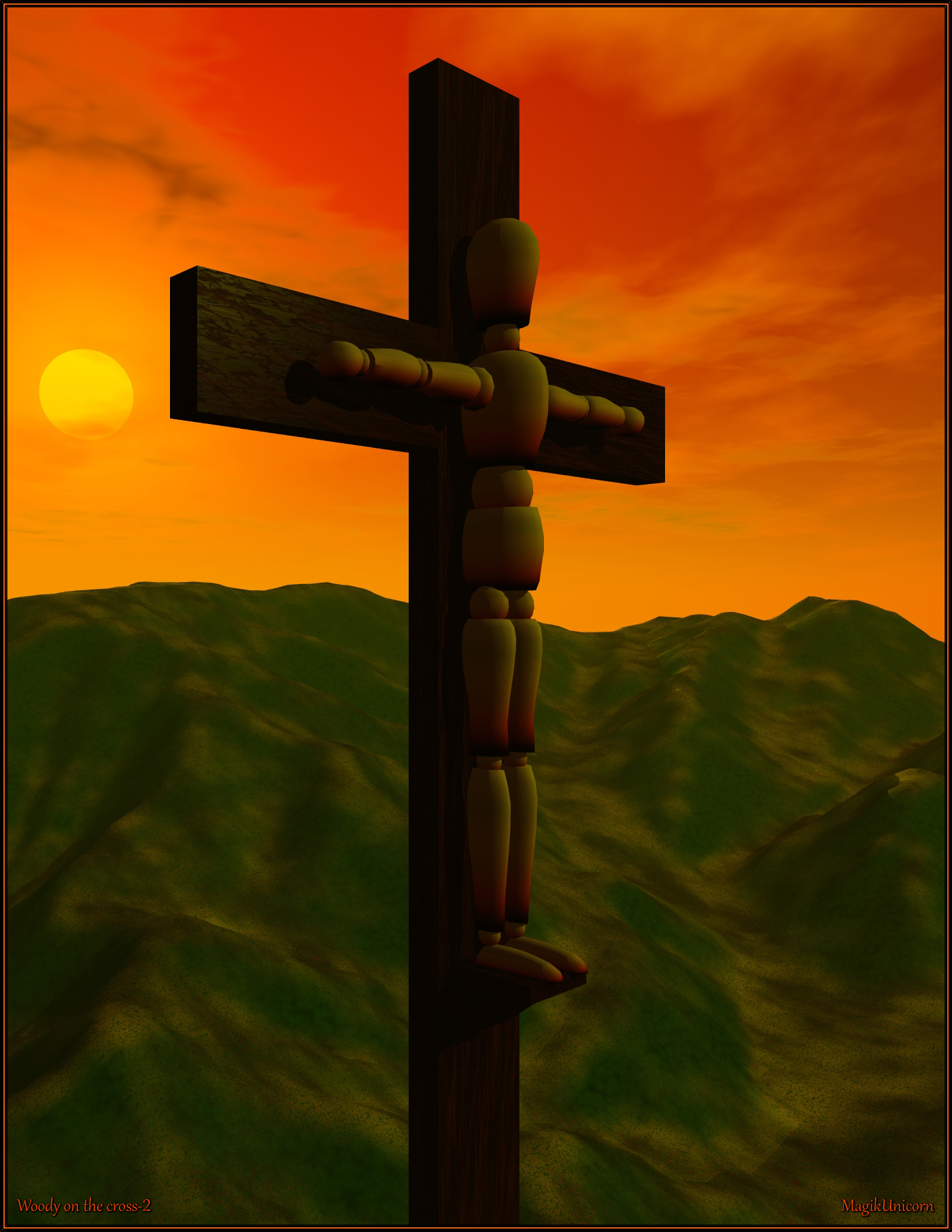 Woody on the cross-2