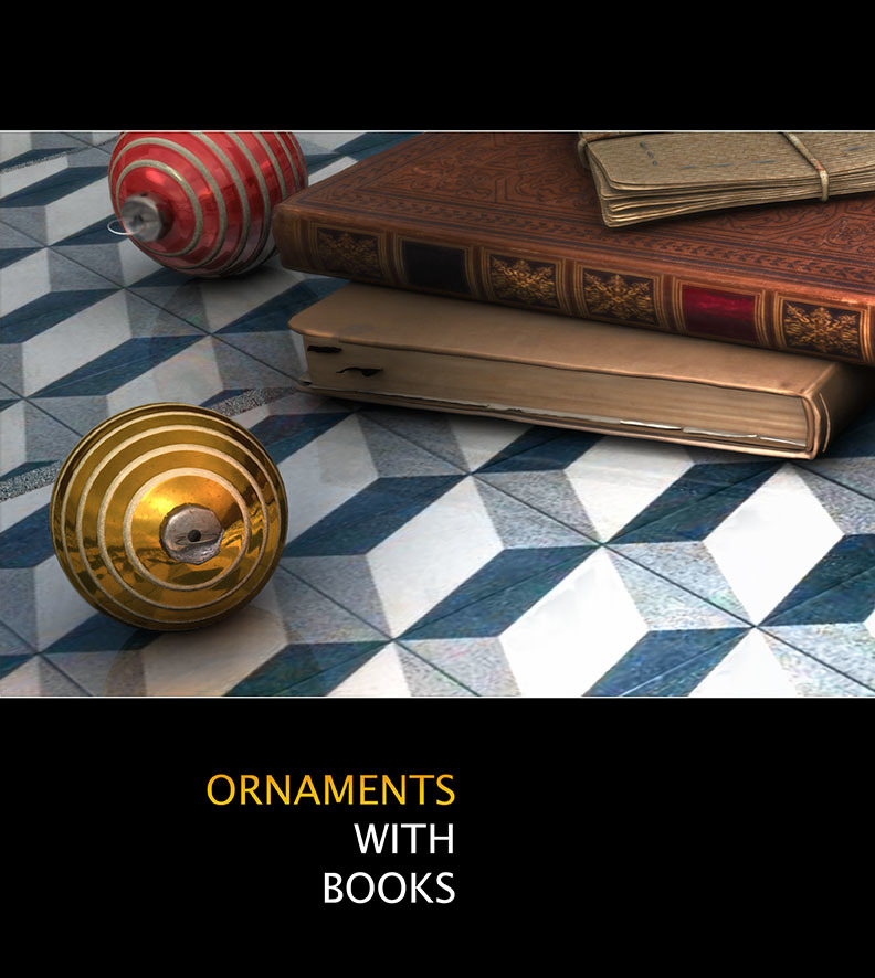 Ornaments with Books