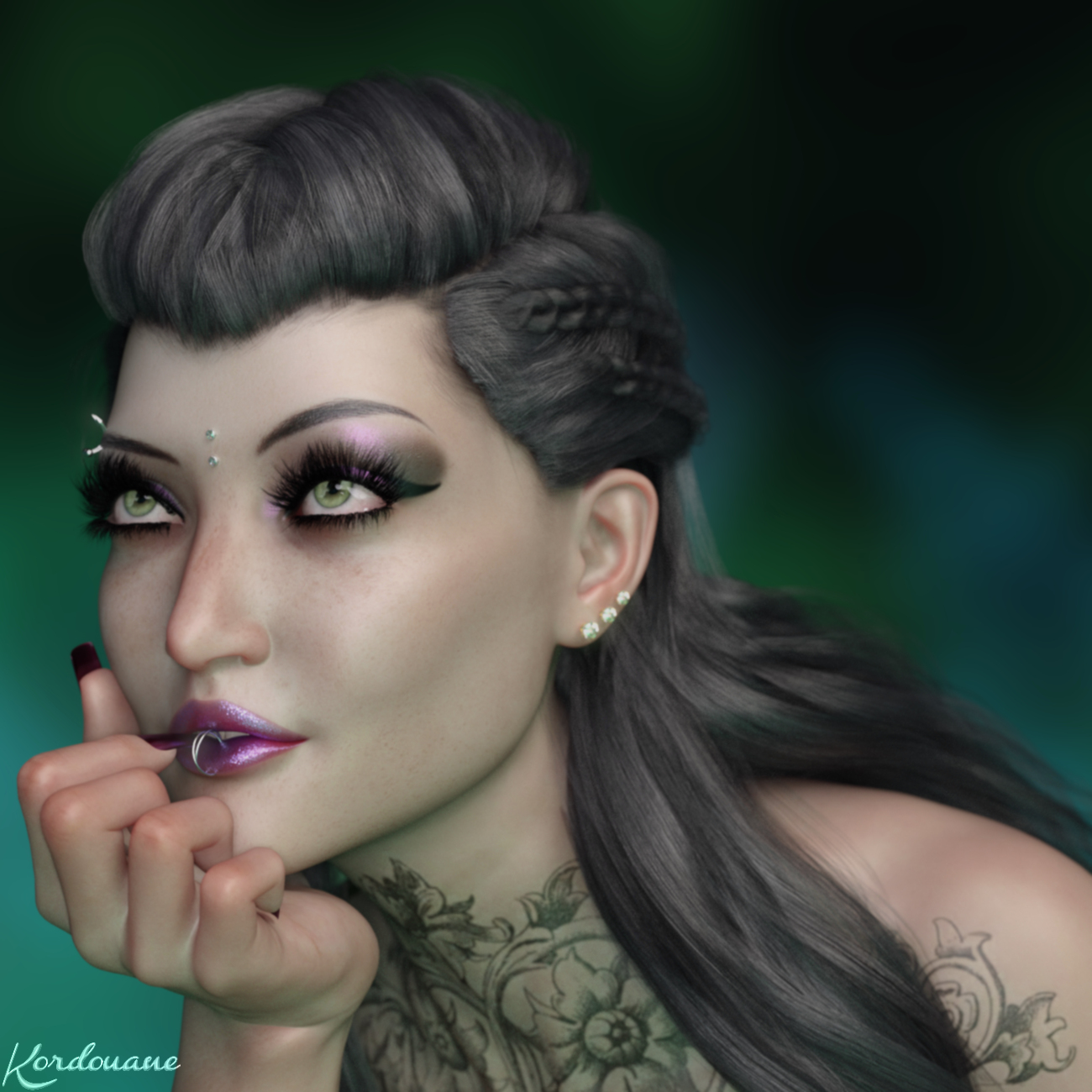 Refined Gothic woman portrait