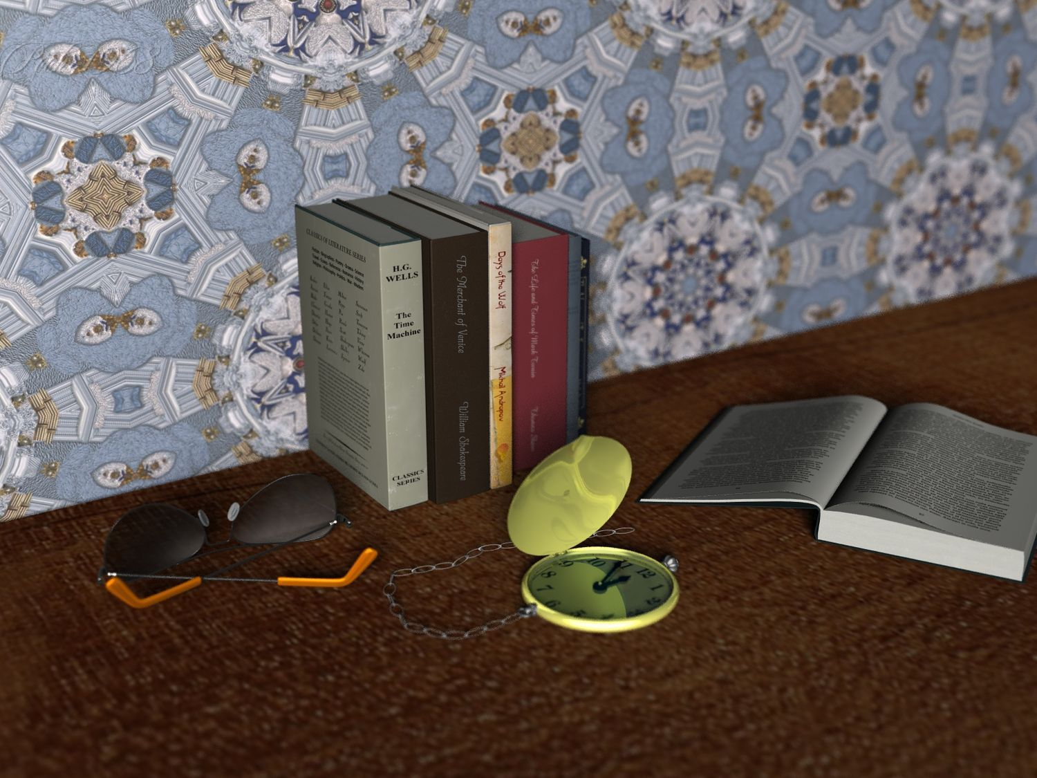 The Books, the glasses and the pocket watches
