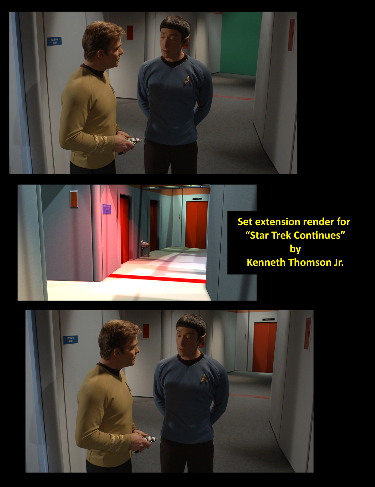 Set Extension Composite, Star Trek Continues by Raymar3d