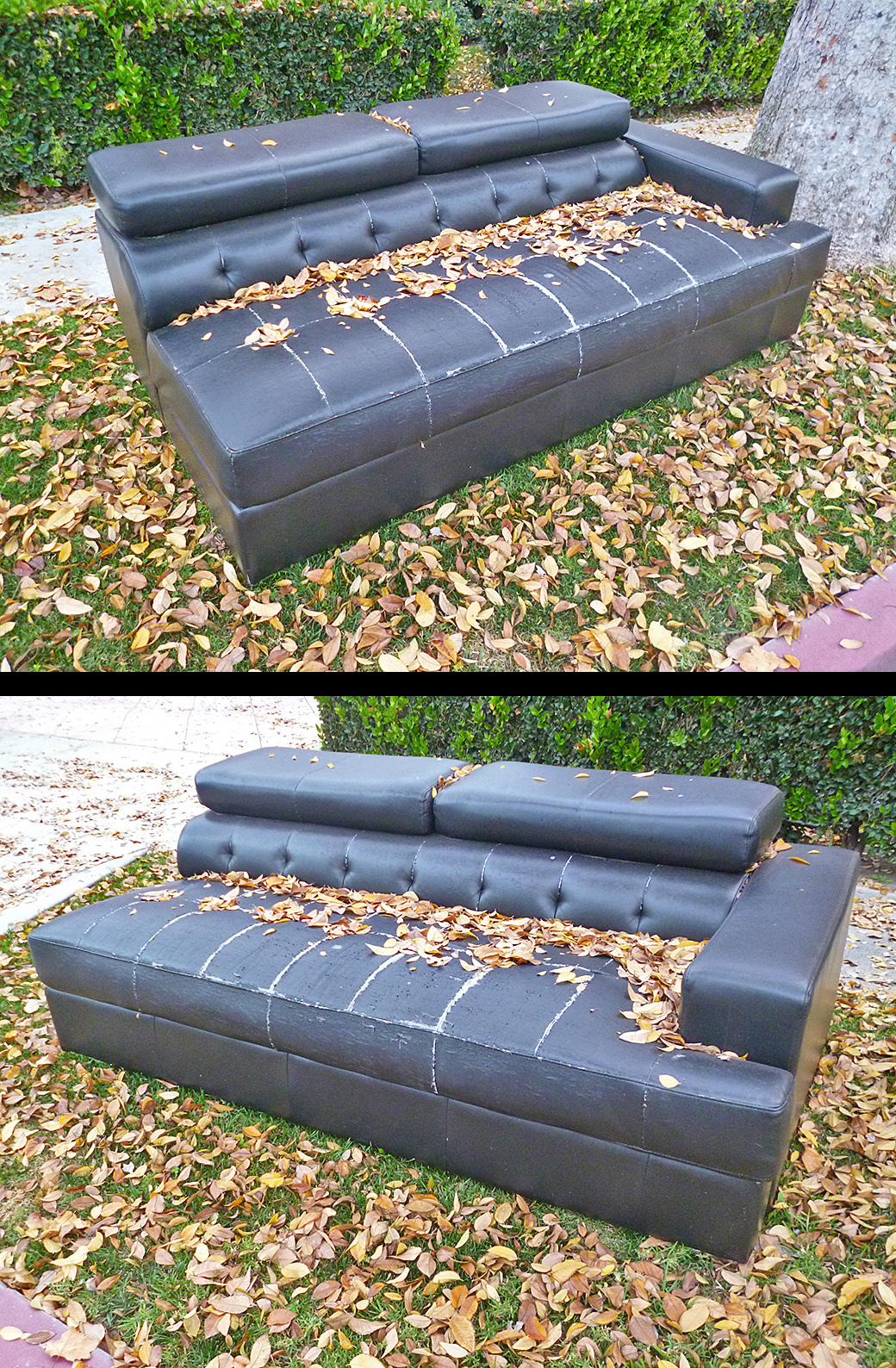 Sofa by the curb
