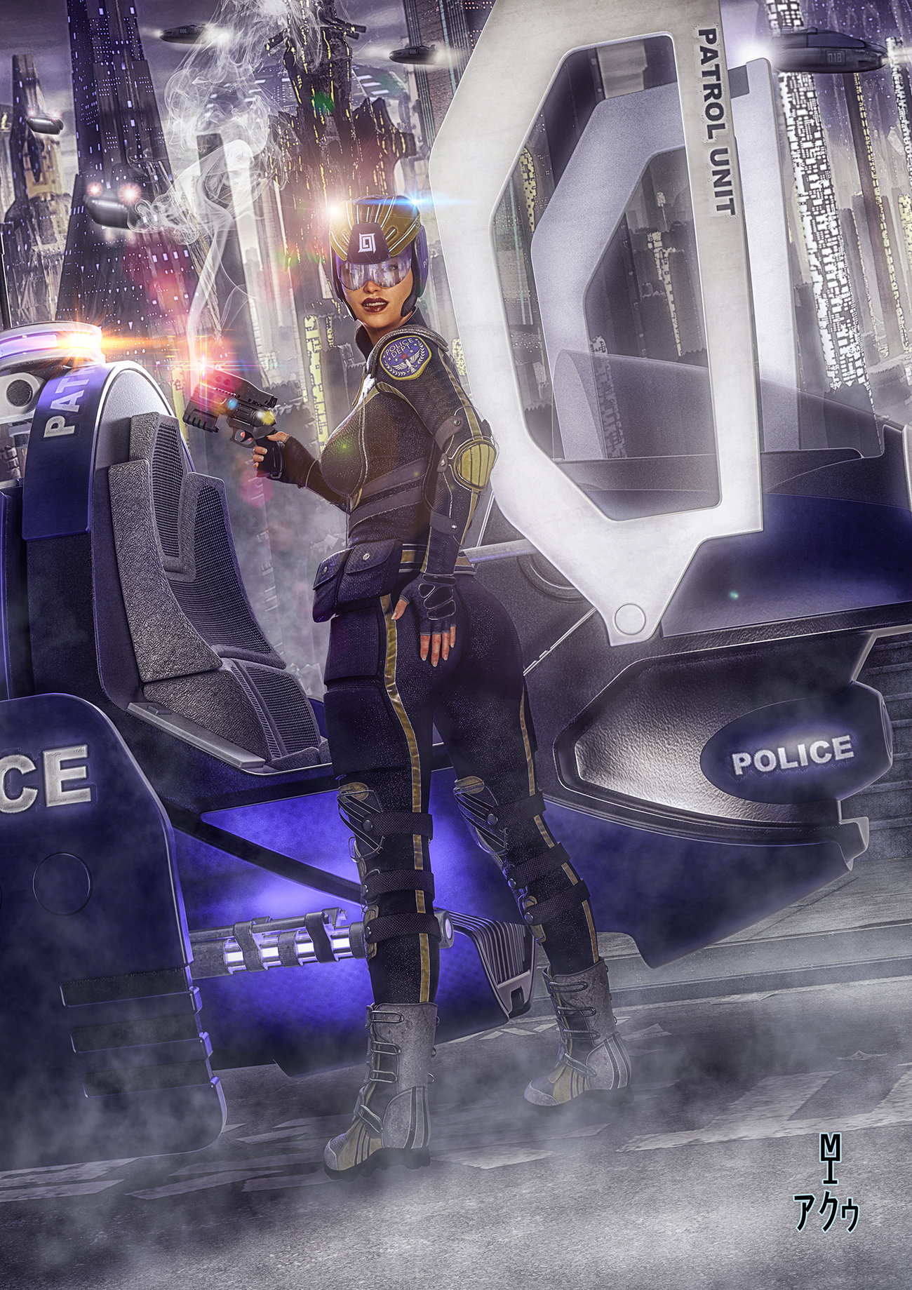 Police Patroller in the Big Bad City