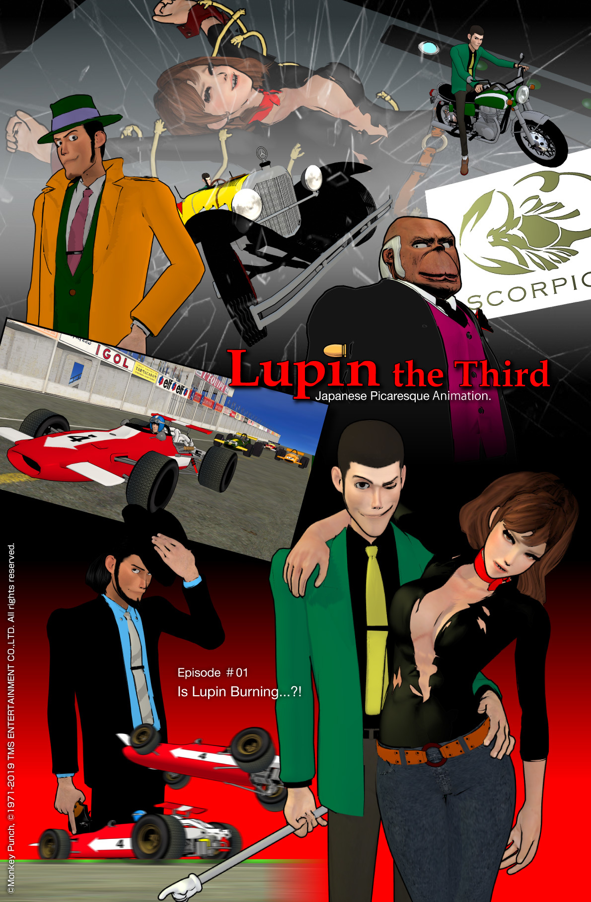 Prototype of Lupin III comic Cover Art #01