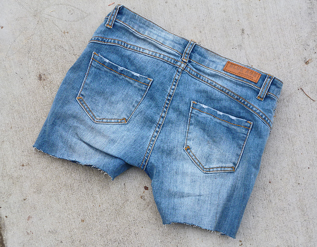Abandoned blue jeans
