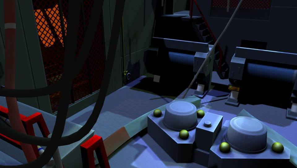 The Wrecked Engineering Section of the USS Saratog by Raymar3d
