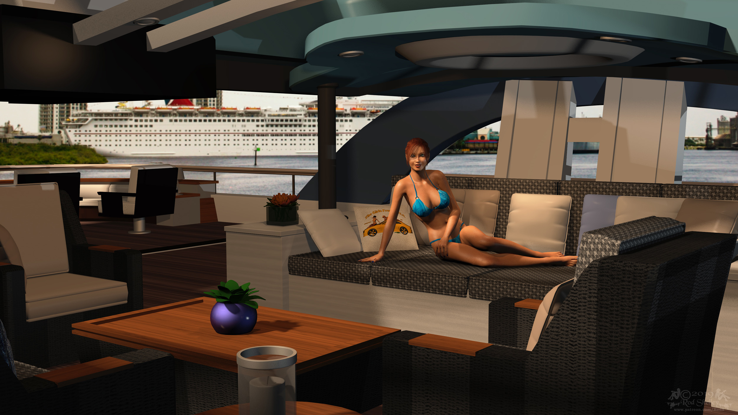Melanie Chillin' on the Yacht