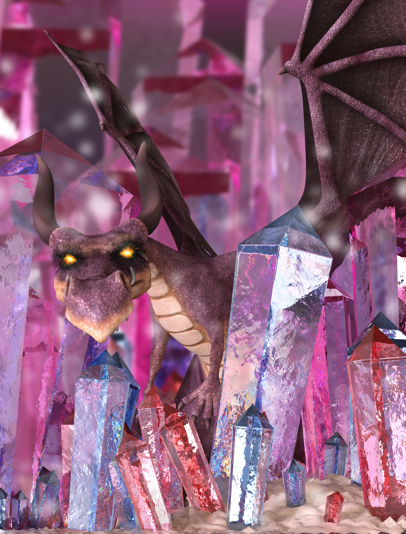 World of Glass Crystal Spires by Arki