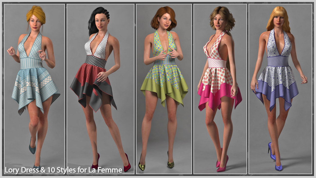 Lory Dress and 10 stlyes for La Femme