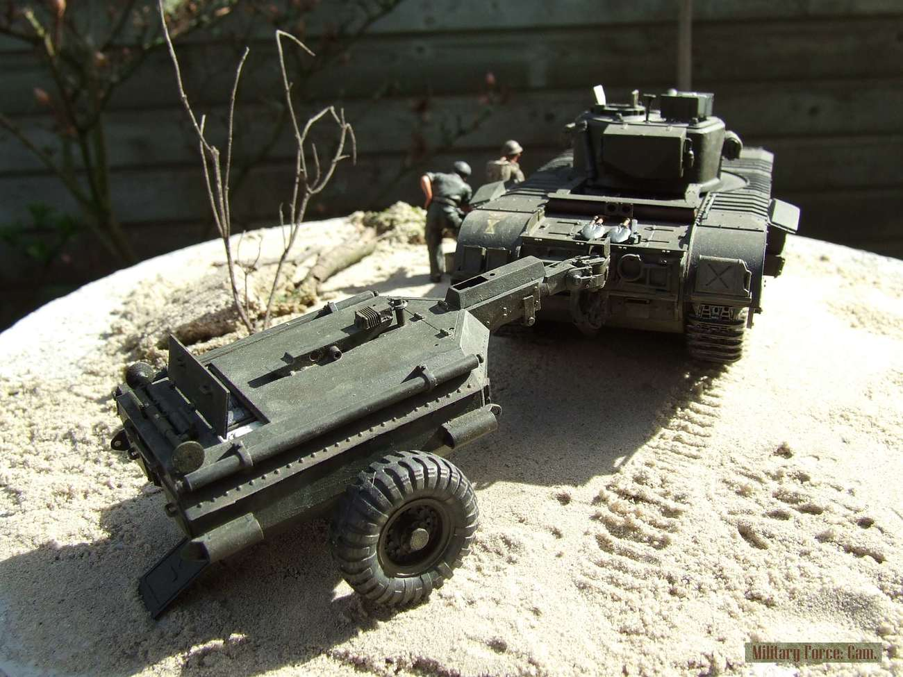 Churchill Crocodile with flame thrower.(5).
