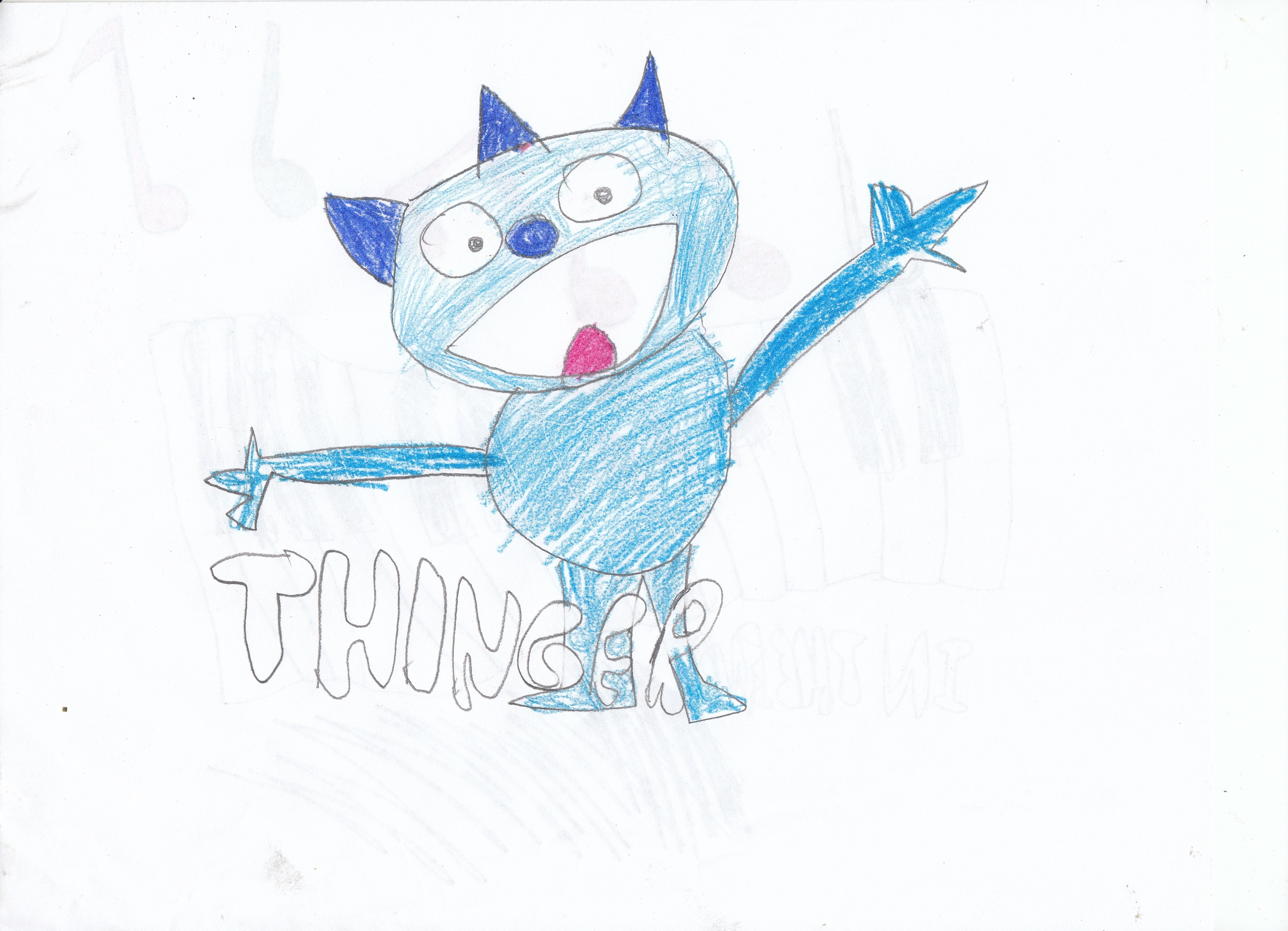 Thinger the Blue Creature (coloring unfinished)