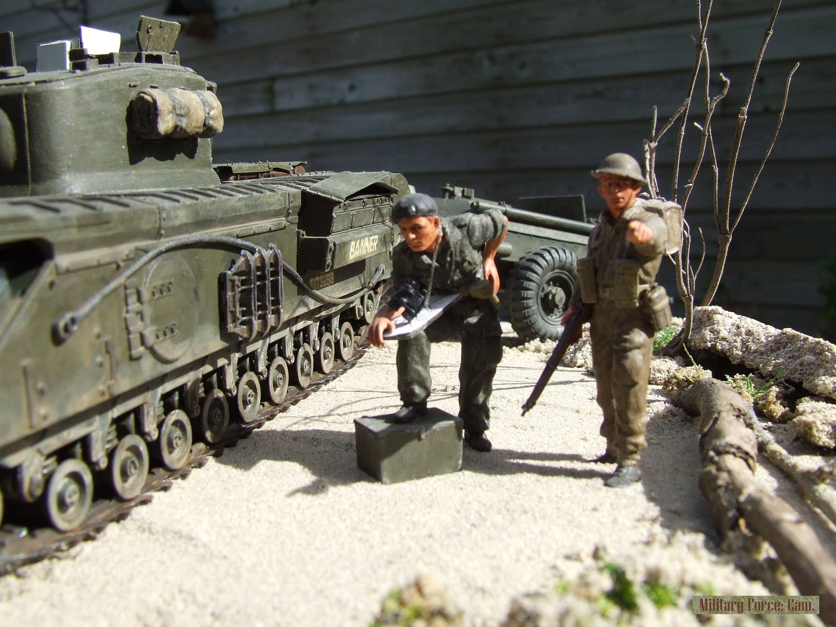 Churchill Crocodile with flame thrower.(6).