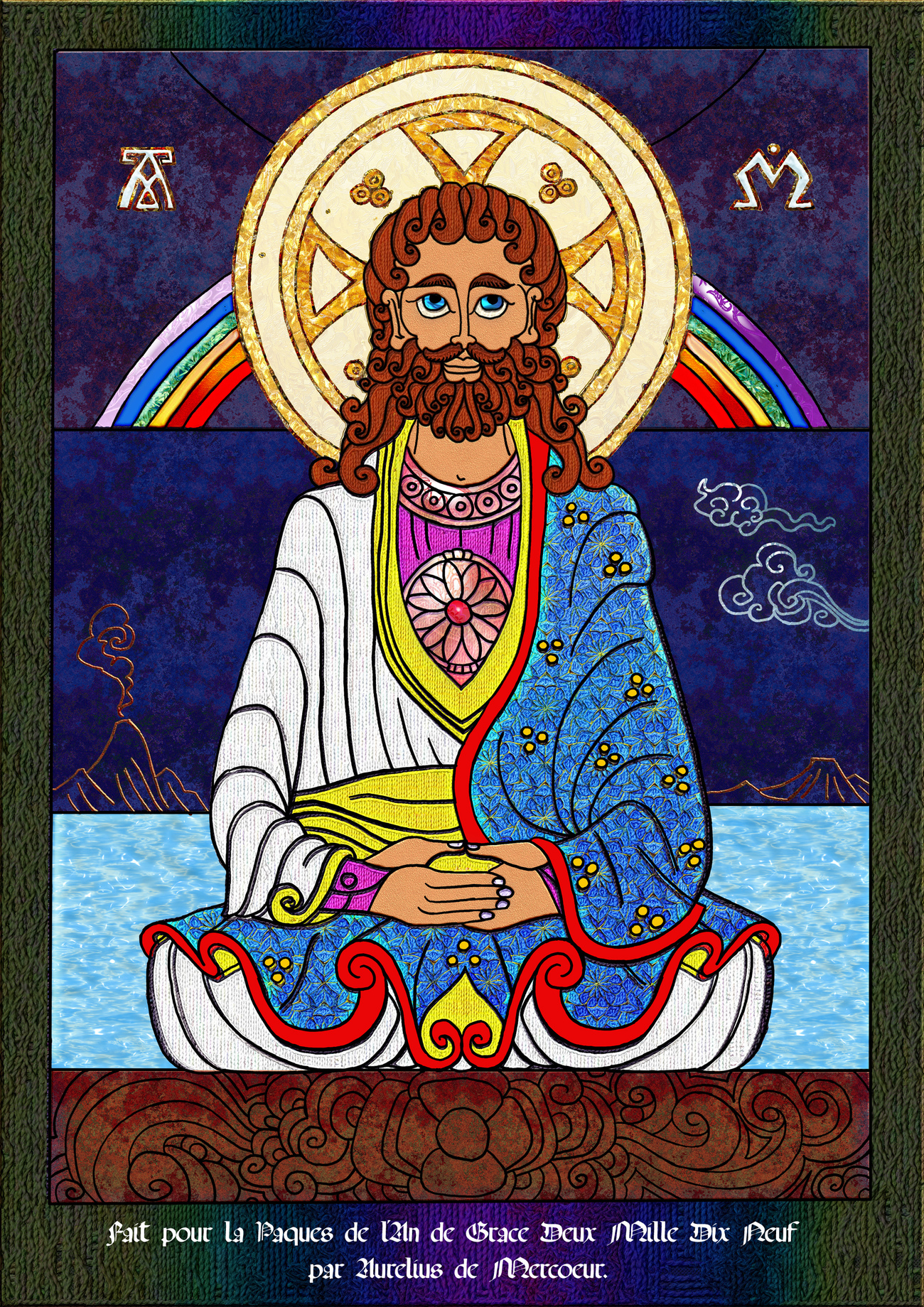 UNE ICONE POUR PAQUES  /  AN ICON FOR EASTER.