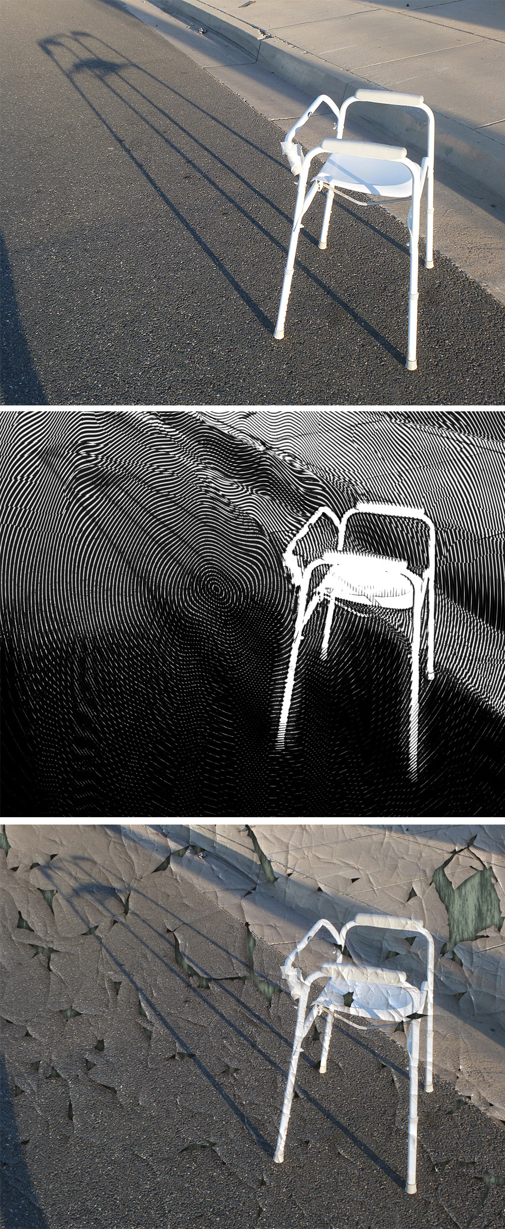 Abandoned chair - with variations